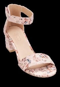 B&CO damesandal rosa blomst
