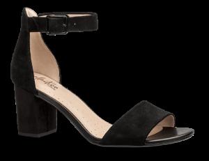 Clarks dame sandal sort 26127568