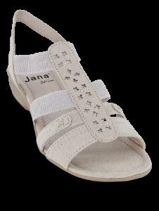 Jana Softline damesandal sort 8-8-28163-24