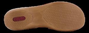 Rieker damesandal konjakk-farge 659C7-24
