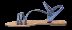 Tamaris damesandal blå metall 1-1-28113-22
