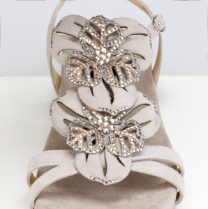Caprice dame sandal grå 9-9-28107-22