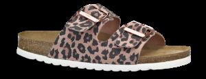 B&CO damesandal rosa med leopard-prikker