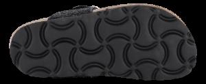 Mia Maja sandal sort glitter 4811100212