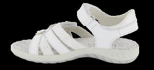 Skofus barnesandal hvit/sølv