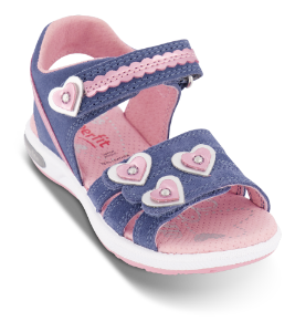 Superfit barnesandal blå/rosa 606133