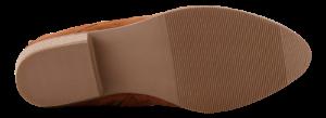 B&CO kort damestøvlett, konjakk