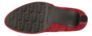 Tamaris kort damestøvlett rød 1-1-25316-23
