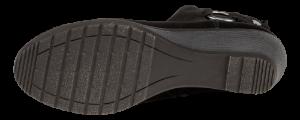 Marco Tozzi kort damestøvlett sort 2-2-25042-25