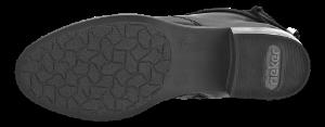 Rieker kort damestøvlett sort 77658-00