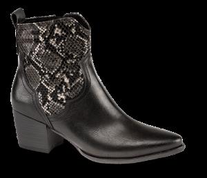 Marco Tozzi kort western-støvlett sort m/snake 2-2-25353-23