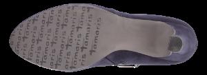 Tamaris kort damestøvlett navy 1-1-25316-23