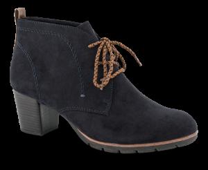 Marco Tozzi kort damestøvlette navy 2-2-25107-33