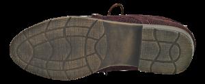 B&CO kort damestøvlett burgunder
