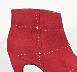 B&CO kort damestøvlett rød