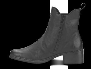 Rieker kort damestøvlett sort 77694-01