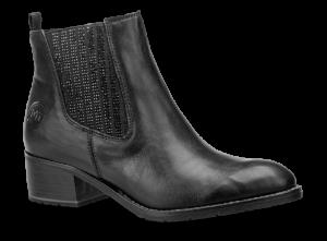 Marco Tozzi kort damestøvlett sort 2-2-25359-21