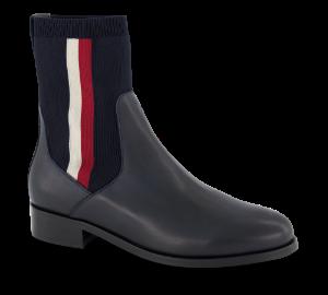 Tommy Hilfiger kort damestøvle navy FW0FW04156