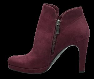 Tamaris kort damestøvlett burgunder 1-1-25316-23