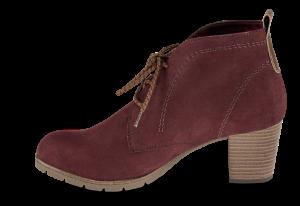 Marco Tozzi kort damestøvlett bordeaux 2-2-25107-33