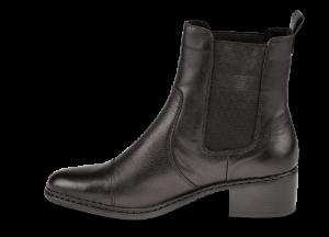 Rieker kort damestøvlett sort 77659-00