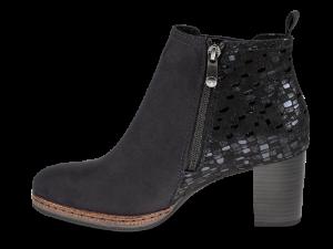 Marco Tozzi kort damestøvlett sort 2-2-25358-23