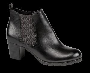 Marco Tozzi kort damestøvlett sort 2-2-25395-33