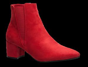 Duffy kort damestøvlett rød 97-00814