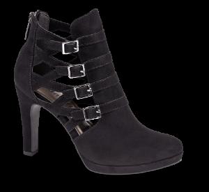 Tamaris kort damestøvlett sort 1-1-25327-33