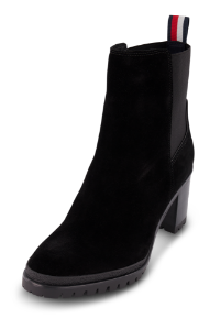 Tommy Hilfiger kort damestøvlett sort FW0FW04342