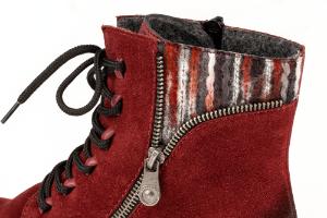 Rieker kort damestøvlett burgunder 70840-35