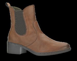 Rieker kort damestøvlett brun 77694-22