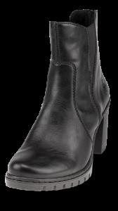 Rieker kort damestøvlett sort Y2554-01