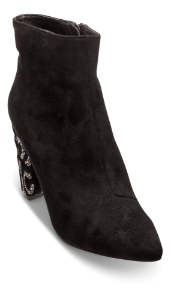 Menbur kort damestøvlett sort 20644X701