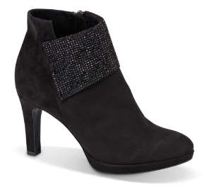 Tamaris kort damestøvlett sort 1-1-25383-23