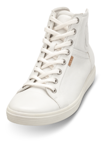ECCO kort damestøvle hvit 430023 SOFT 7 LA
