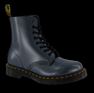 Dr. Martens kort damestøvlett metallisk navy 26233040