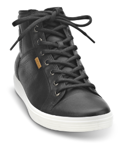 ECCO kort damestøvlett sort 430023 SOFT 7 LA