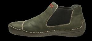 Rieker kort damestøvlett grønn 52590-54