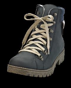 Rieker kort damestøvlett navy 785F8-14