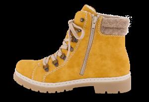 Rieker kort damestøvlett gul Y9430-68