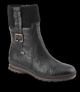 Rieker damestøvlett sort Z2480-00