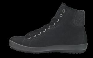 Legero kort damestøvle sort 309614