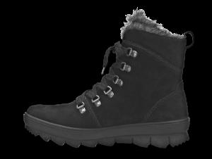 Legero kort damestøvlett sort 300503