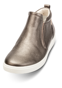 ECCO kort damestøvlett sort metallic 430753 SOFT 7 LA