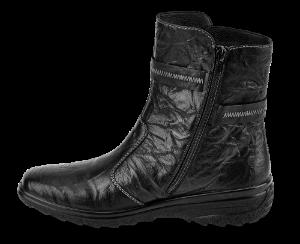 Rieker kort damestøvlett sort Z7071-00