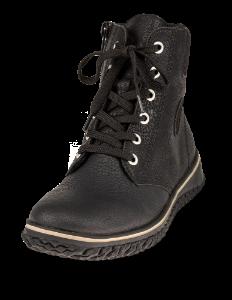 Rieker kort damestøvle sort Z4226-00