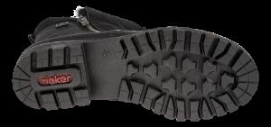 Rieker kort damestøvlett sort 78593-00