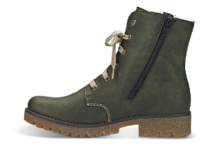 Rieker kort damestøvlett grønn 79839-54