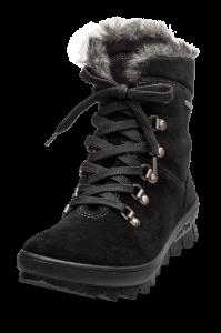 Legero kort damestøvlett sort 500503